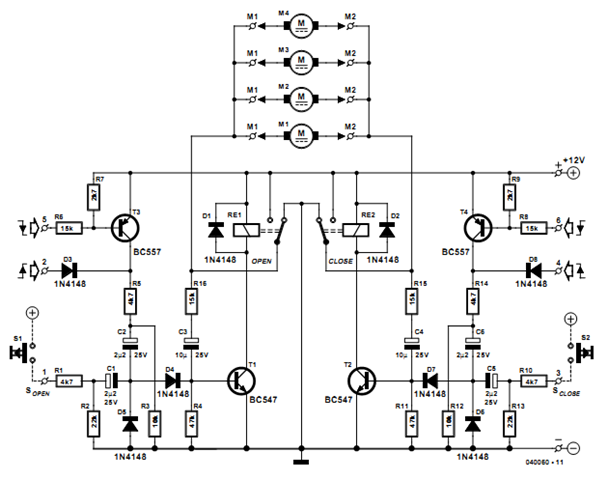 car central locking system circuits projects car central locking system circuit diagram system circuit diagram