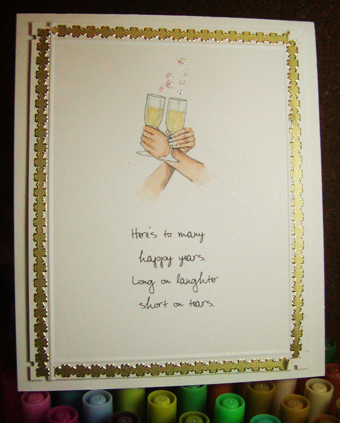 hog wild about stamping simple wedding wishes