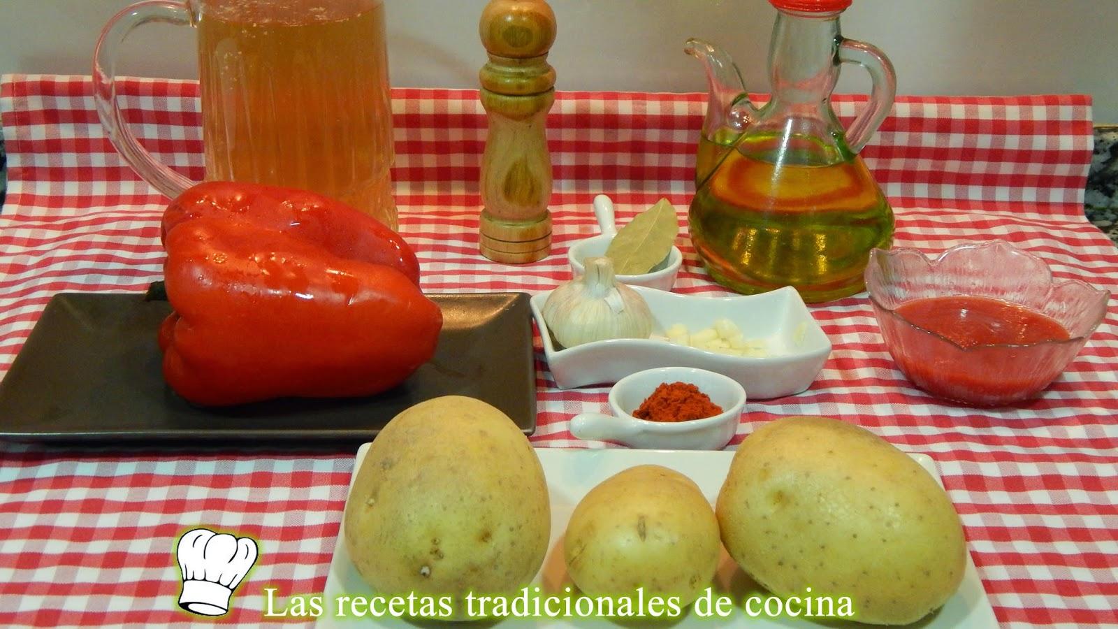 Receta de patatas guisadas con pimientos