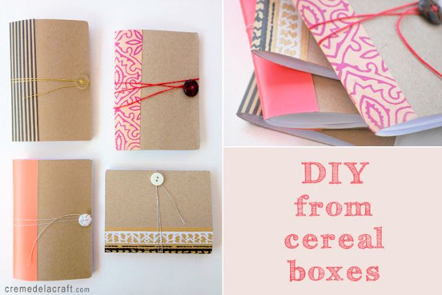 Diy mini notebook from a cereal box - Diy projects with a cardboard box boundless creativity ...