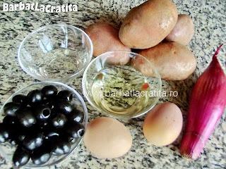 Salata orientala de cartofi ingredientele retetei grupate