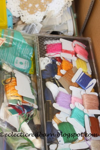 Eclectic Red Barn: Dollar box contents - yarn