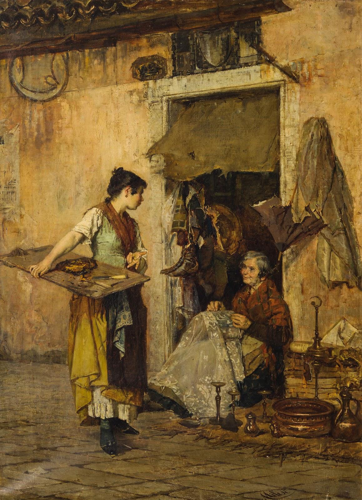 Alessandro Milesi La  venditrice  di  zucca