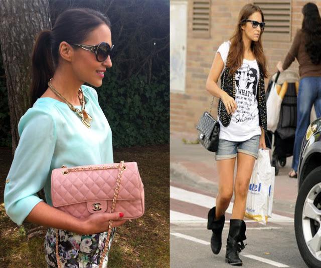 Paula Echevarría bolso Chanel 2.55