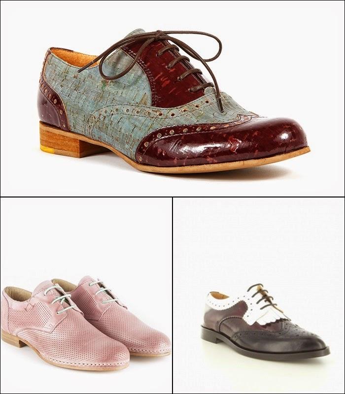 Sapatos rasos, baixos, oxford - primavera-verão 2015