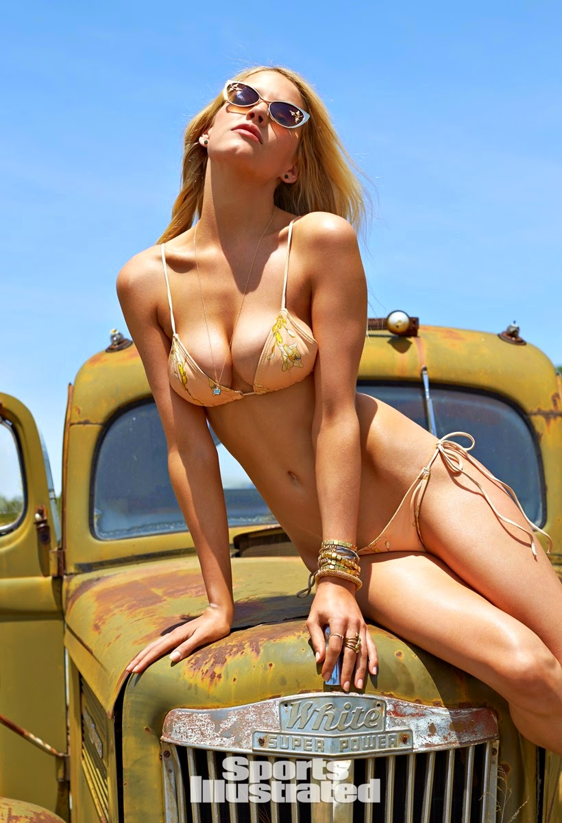 Ashley Smith heads to US Route 66 for the Sports Illustrated Swim 2015 issue