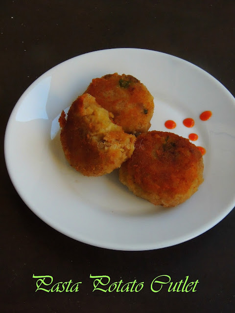 Pasta potato cutlet, Potato pasta tikki