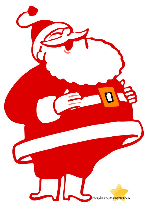 cartoon of santa claus to print-Images and pictures to print