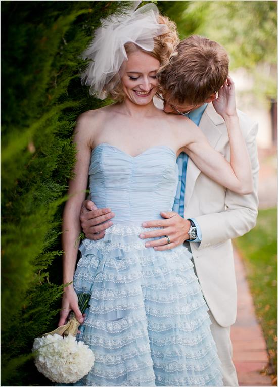 Wedding dress inspired from around the world the hairs for Blue irish wedding dress