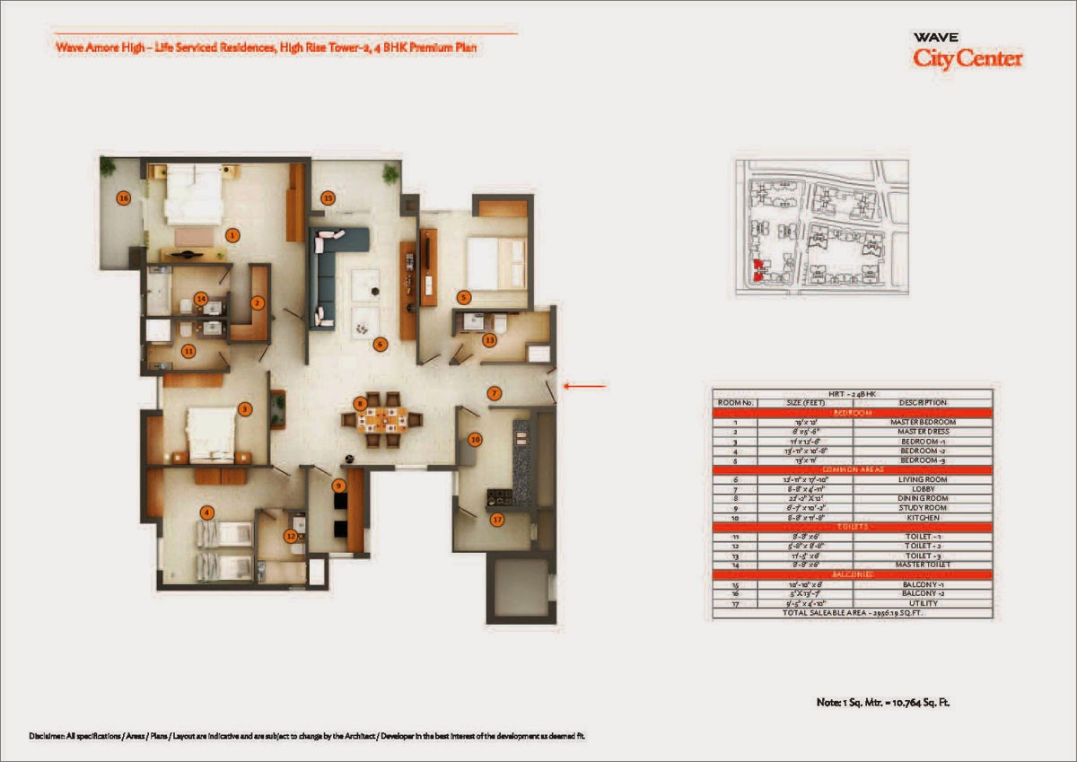 High Rise Tower 2,4 BHK Premium Plan