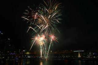 tree fireworks nwe year australia