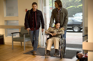 "Jensen Ackles as Dean Winchester & Jared Padalecki as Sam Winchester in Supernatural 11x01 ""Out of the Darkness, Into the Fire"""