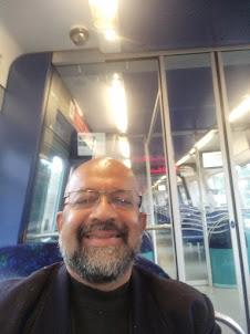Travelling in a Metro train in Copenhagen.