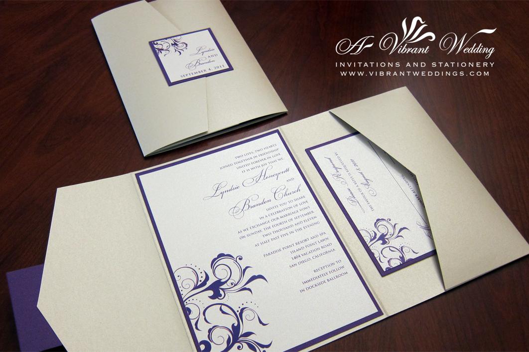 Beach Wedding Invitations Purple Wedding Invitations