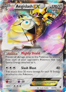 Aegislash Phantom Forces Pokemon Card