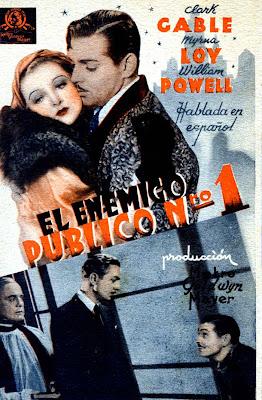 Cover, cartátula, dvd: El enemigo público número 1 | 1934 | Manhattan Melodrama