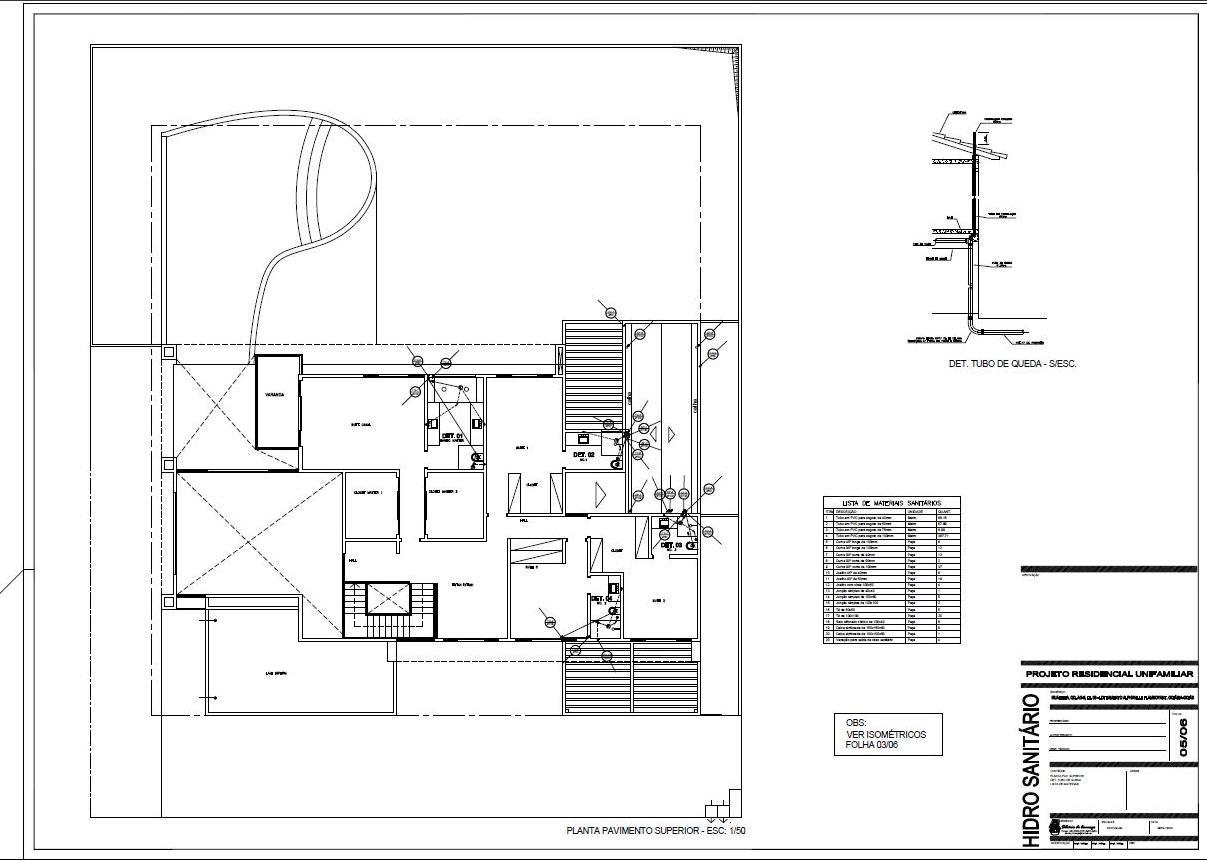 Projetos & Desenhos: Projeto Hidro Sanitário #626769 1207 861