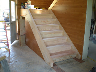 Douglas fir timber stairs,  http://huismanconcepts.com/