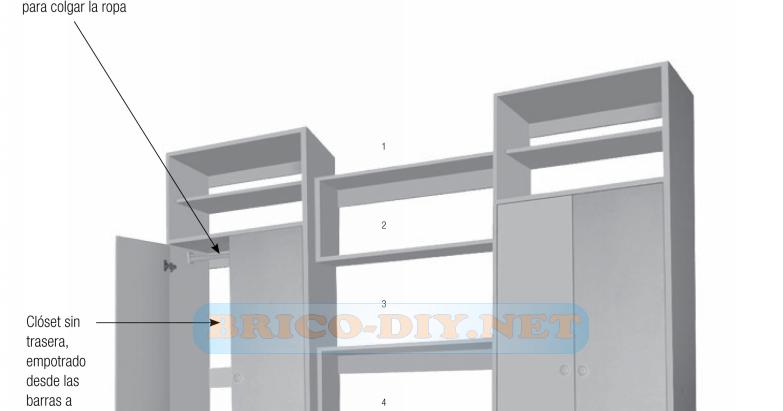 Proyecto bricolaje muebles closets de melamina web del for Curso de carpinteria en melamina pdf