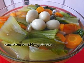 Cara membuat sayur bokchoy bening