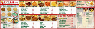 Menu and Prices of Rice Taft Ave