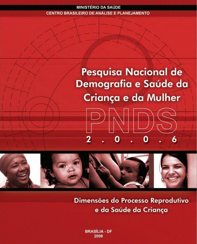 PESQUISA NACIONAL DE DEMOGRAFIA E SAÚDE DA CRIANÇA E MULHER