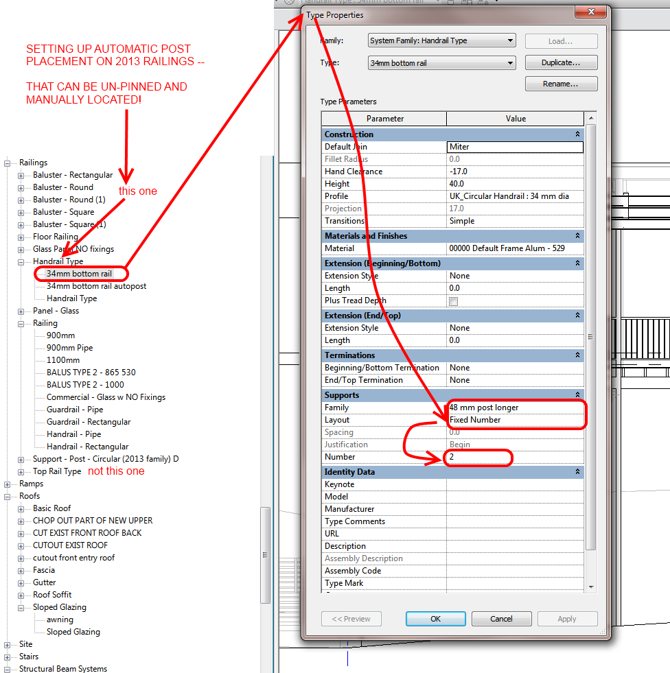 what revit wants automatic and manual railing support locations in rh revitforum org