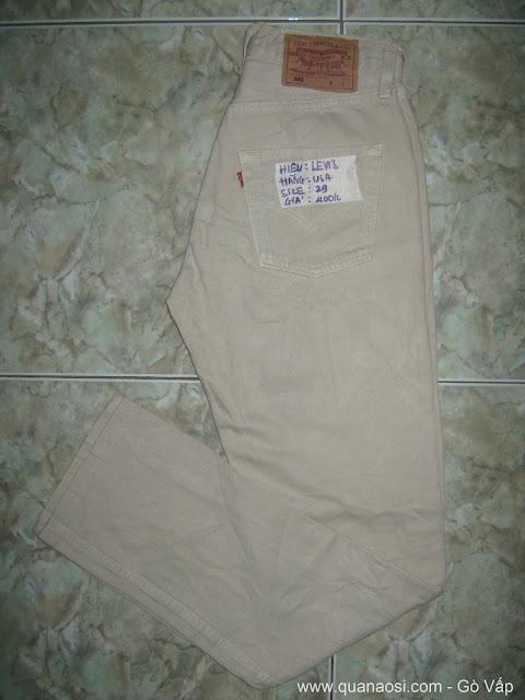 Quần jean LEVIS 501 màu trắng sữa hàng USA 400k, Quần Áo hàng SI