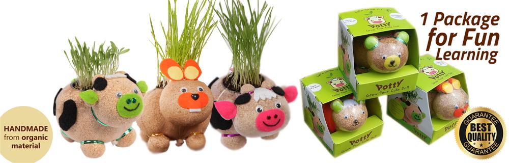 Boneka Edukatif Potty - Paket Berkebun Anak