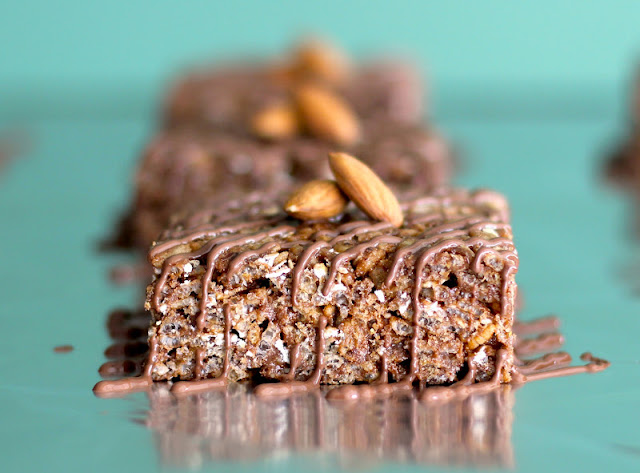 Healthy Mocha Almond Krispy Treats
