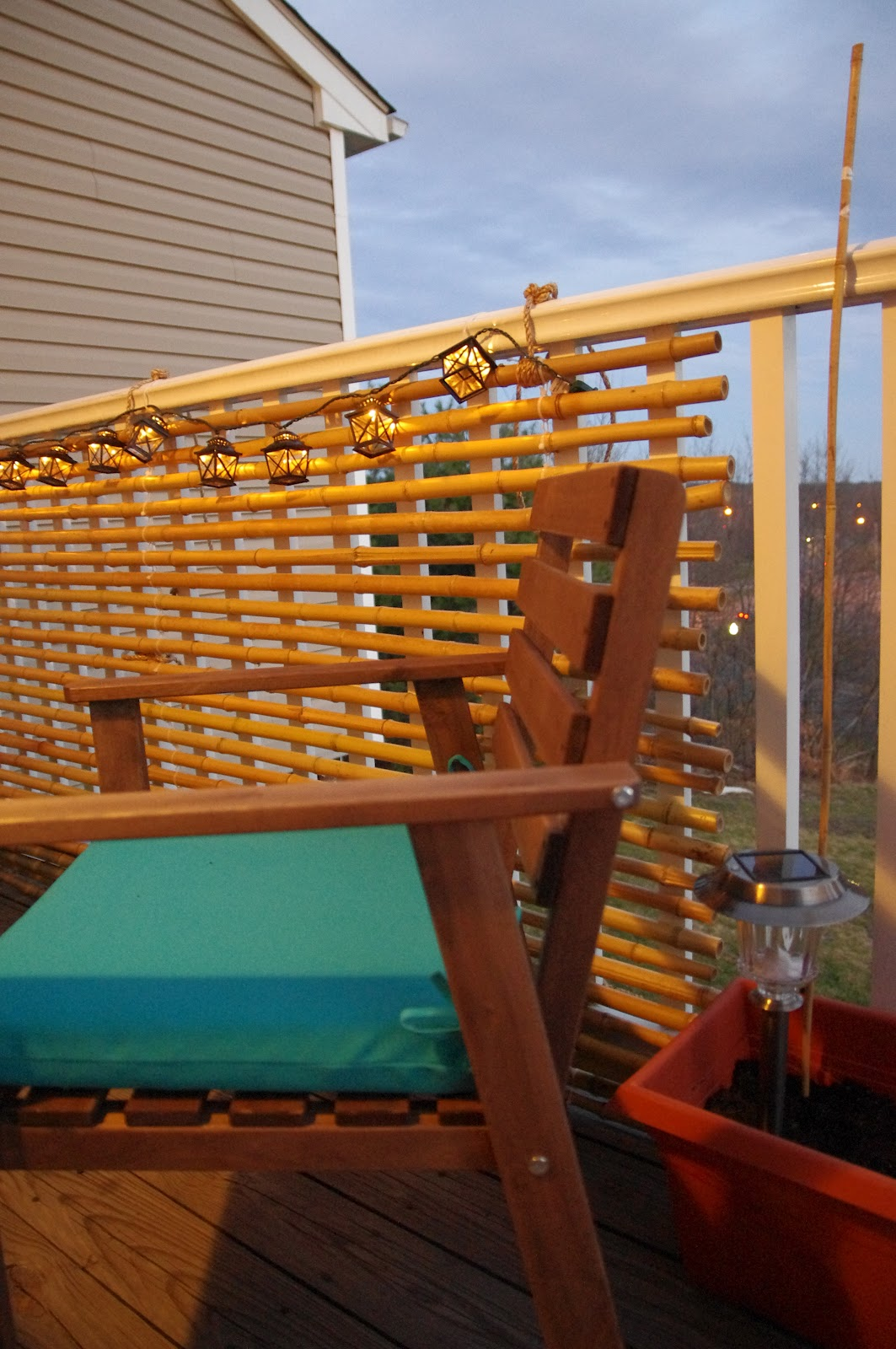 Silver rose sewing balcony makeover and bamboo screen for Balcony makeover