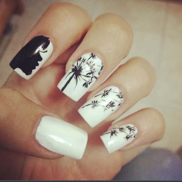 Black&White, Palma Patterned, Cute Nails