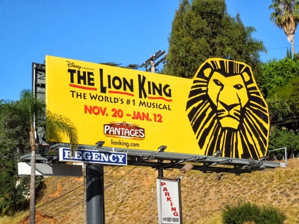 Lion King musical Pantages Theatre billboard
