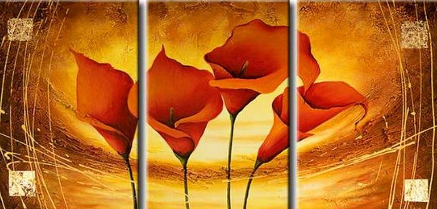 Im genes arte pinturas pinturas abstractas de cuadros - Triptico cuadros modernos ...