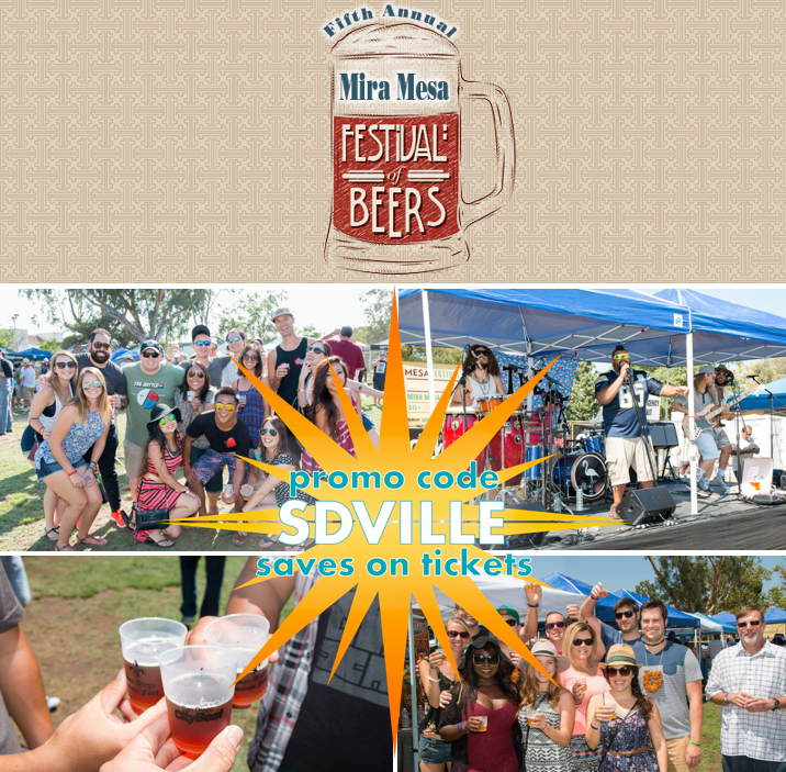 Save On Passes & Enter to win VIP tickets to the Mira Mesa Festival of Beers - August 13