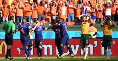 Belanda Menang 3-2 atas australia