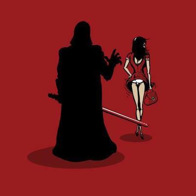 Darth Vader haciendo travesuras, ¡qué pervertido!