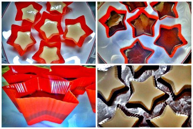 Preparación de las estrellas de chocolate