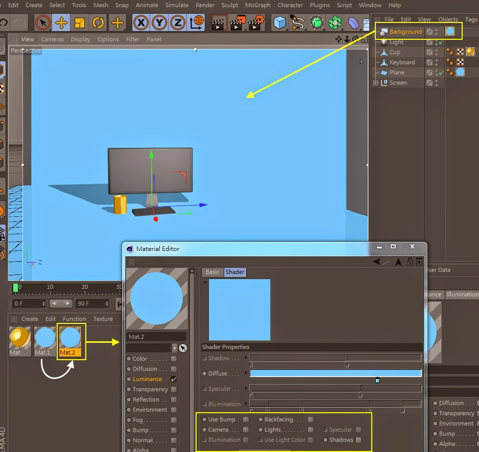 2D Style for 3D Objects in Cinema 4D 12