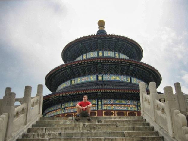 Nacho en el Templo del Cielo en Beijing