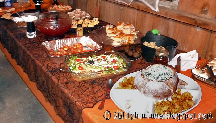 Halloween Buffet Table
