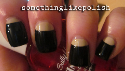 half moons nail art
