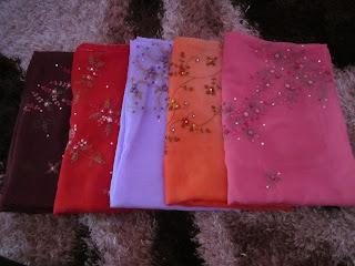 koleksi tudung bawal sulam crown 2012