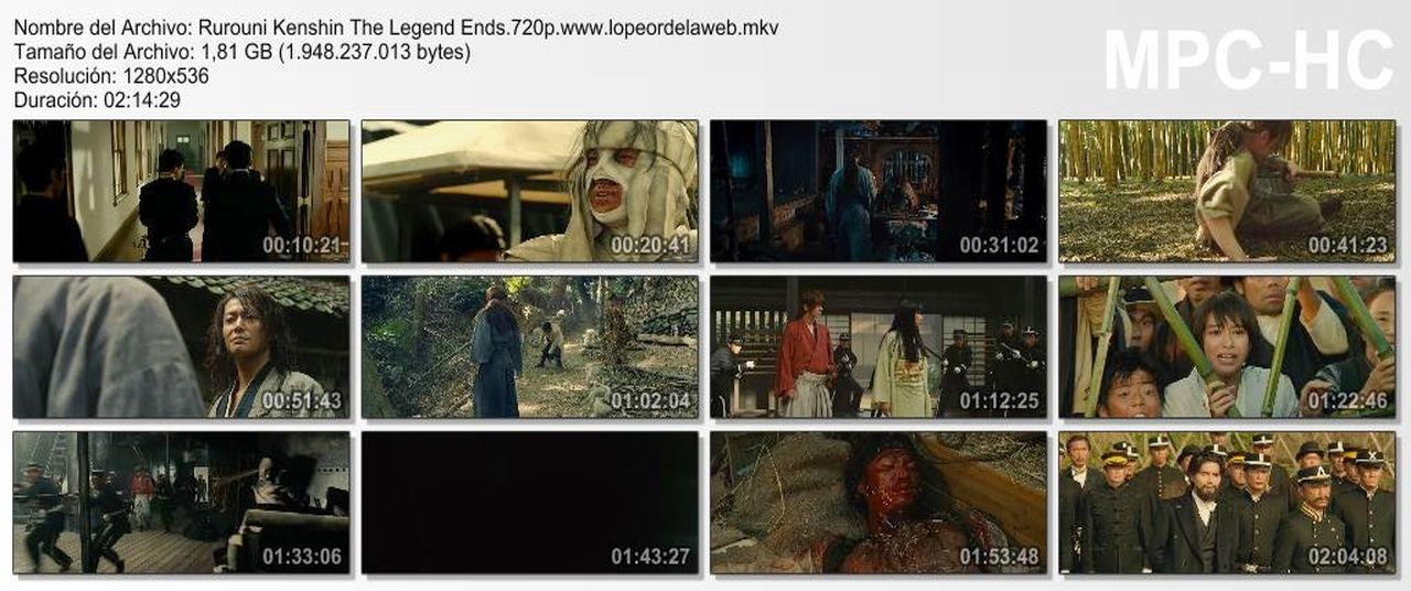 Rurouni Kenshin: The Legend Ends (2014) BRrip 720p Lat-Jap