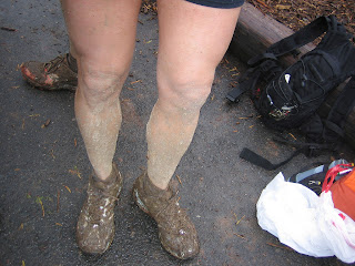 It was slick mud, too. The temp dropped so much runners donned bread bags to keep warm.