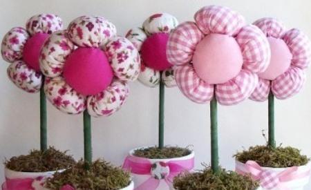 Como hacer flores de tela portal de manualidades - Hacer manualidades con telas ...