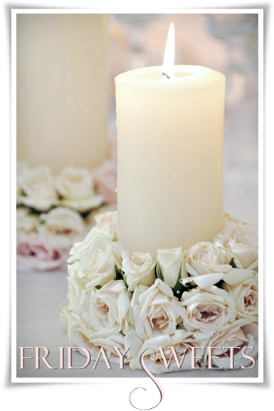 jus rosor, ljus med rosdekoration, candle with roses, rose candle, rose decoration with candel