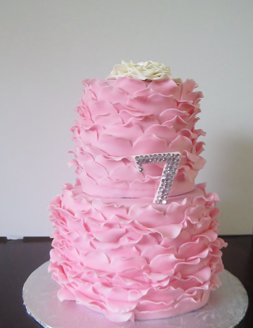 Cakes...Or Something Like That: Pink Ruffle Birthday Cake