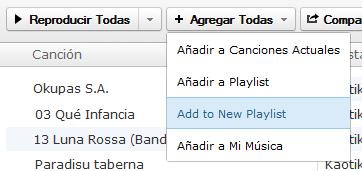Exportar listas de iTunes a Grooveshark