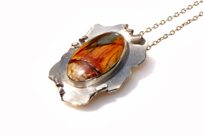#red creek #jasper #silver #pendant by akvjewelry